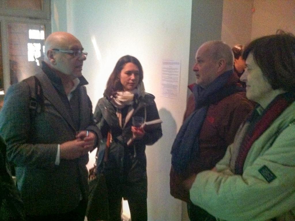 Michael Bielicky (HfG), Sabine Scharff (HfG), Michael Müller-Verweyen, director, Goethe-Instutut Budapest, dr. Márta Nagy, Goethe-Instutut Budapest